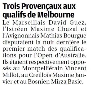Article La Provence jeudi 13-01-16