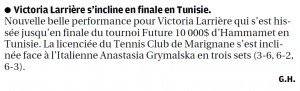 Finale Tunisie Victoria