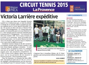 Article La Provence du lundi 21 septembre 2015